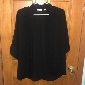 New York & Company Black Lace Kimono